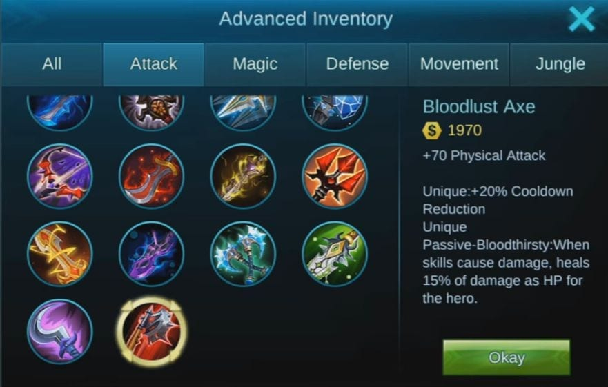 Mobile Legends Item List and Types