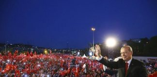 Fearless Turks Gather against Coup Attempt