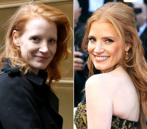 Jessica Chastain without MakeUp